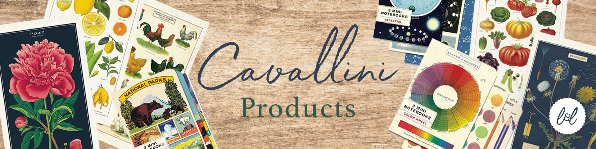 Cavallini Notebooks and Posters