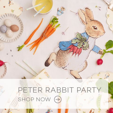 Peter Rabbit Plates and Napkins and Partware