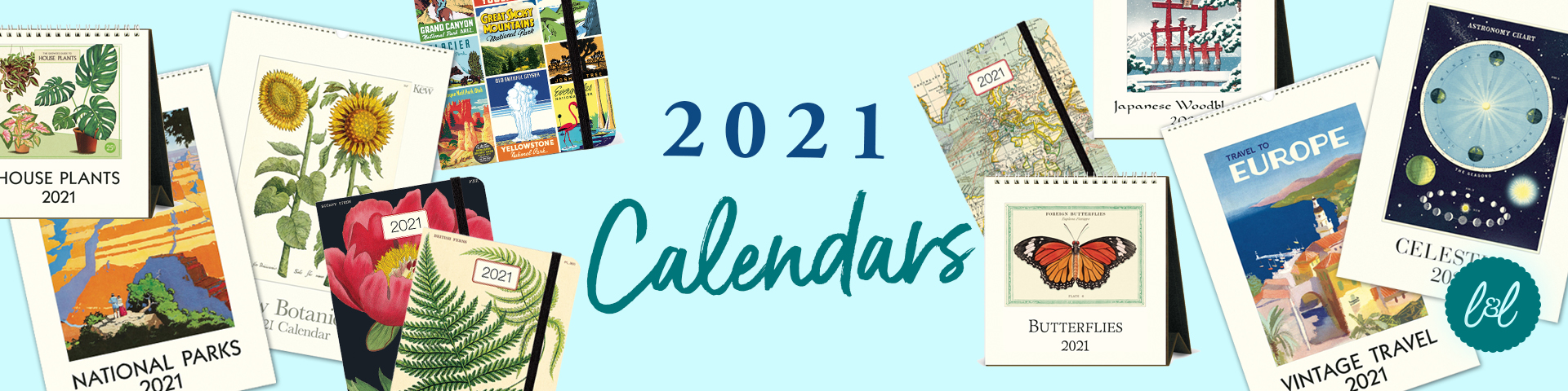 2021 Calendars, Diaries and Planners